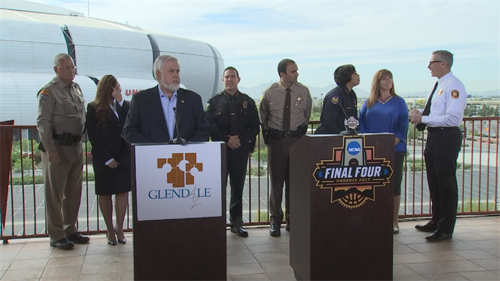 Law enforcement agencies from all over the state are helping out with security for the Final Four. (Source: 3TV/CBS 5)