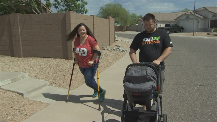 King has cerebral palsy but that isn't stopping her from doing Pat's Run. (Source: 3TV/CBS 5)