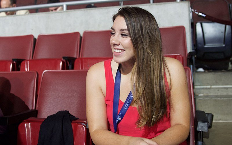Belen Sisa, one of two Arizona DREAMers working as a page at the Democratic National Convention in July 2016, can't vote because of her immigration status. That's why it was important to her to be at the convention. (Source: Kelsey DeGideo, Cronkite News)
