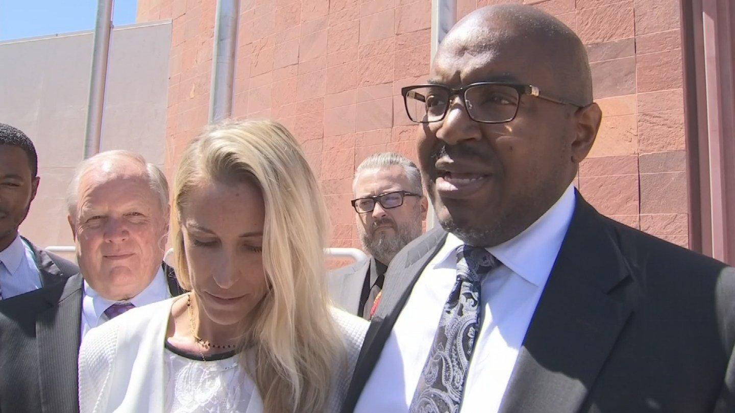 Lindsey Radomski outside court after the verdict was read in September. (Source: 3TV/CBS 5)
