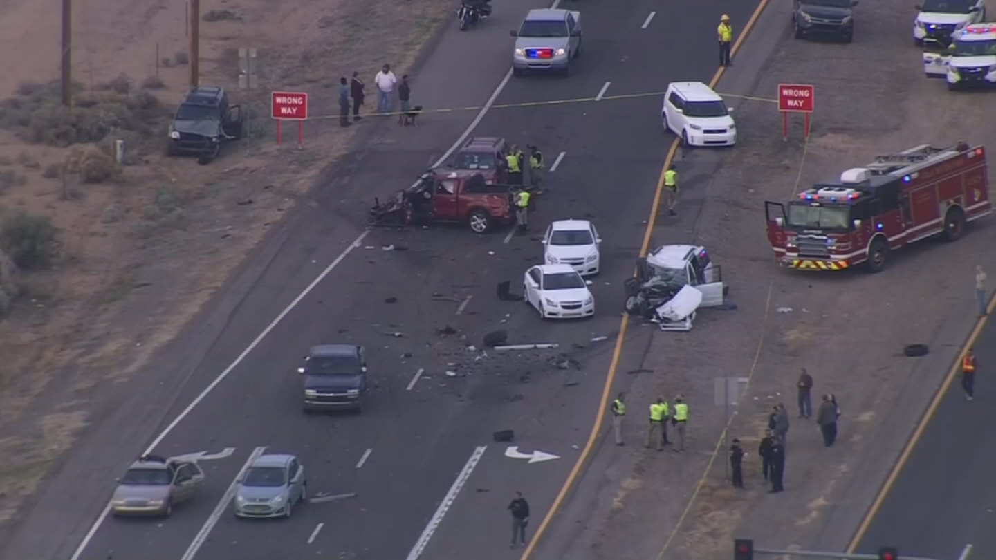 A wrong-way driver caused a 12-car crash in December. (Source: 3TV/CBS 5)