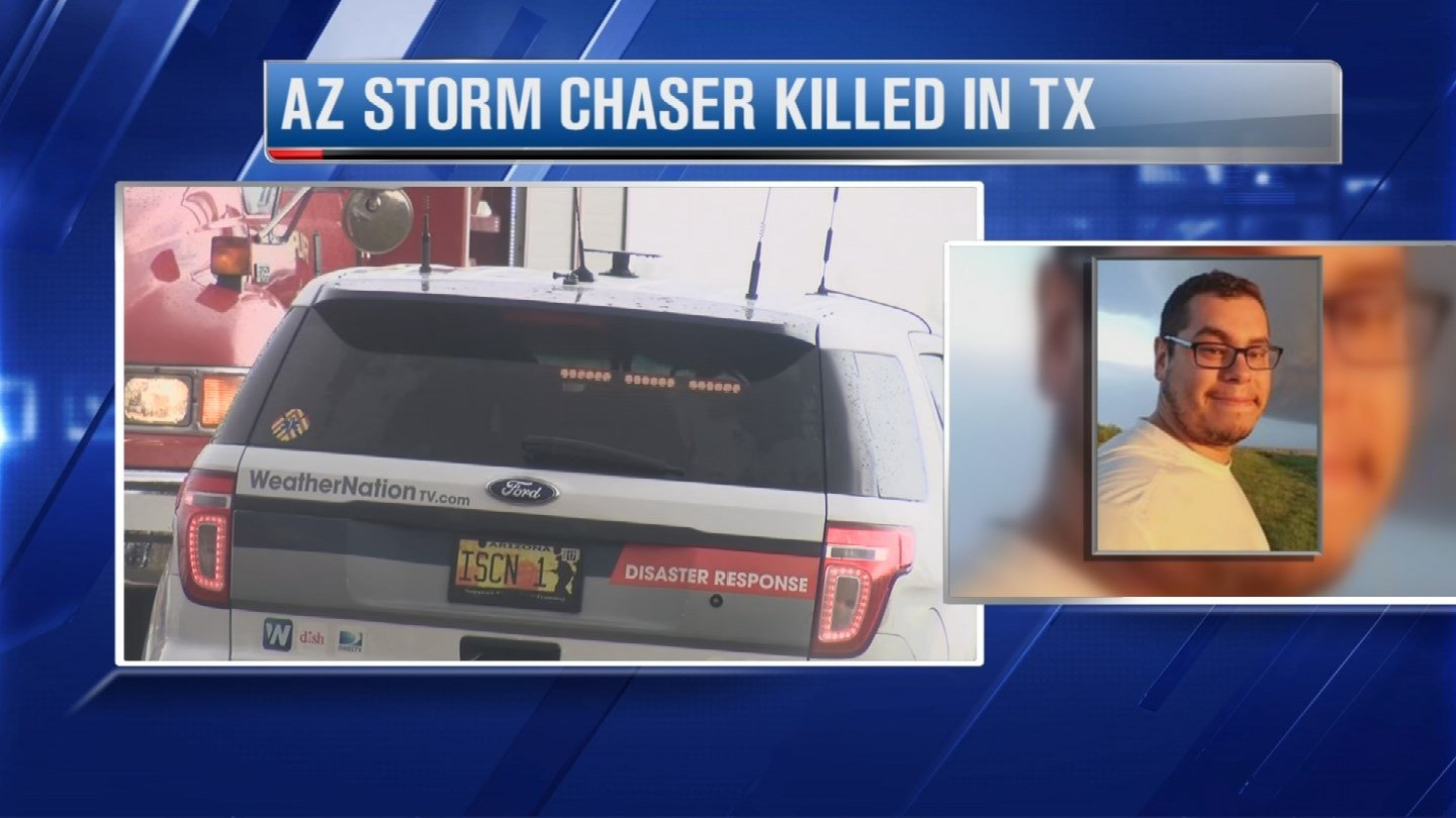 Corbin Lee Jaeger, 25, of Peoria, Arizona was killed in a crash while chasing a tornado in Texas. (Source: 3TV/CBS 5)