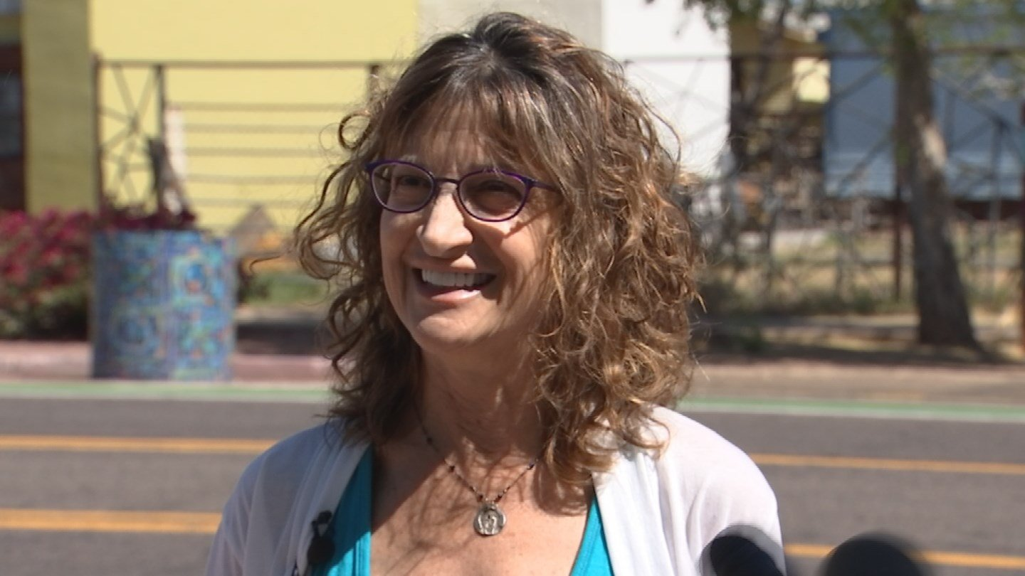 Susan Nichols, local business owner, comments on the vandalism of the controversial Trump billboard. (Source: 3TV/CBS 5)