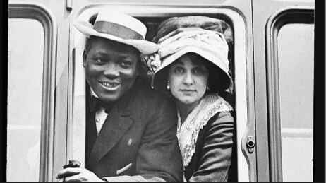 Jack Johnson, the first black heavyweight boxing champion, was sentenced to prison for dating a white woman.
