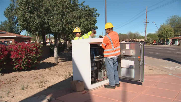 The City of Tempe is installing sensors so they can track traffic better. (Source: 3TV/CBS 5)