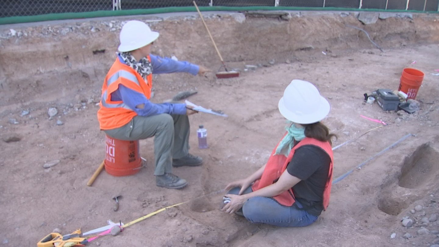 Sherds of pottery were also found scattered throughout, some pieces 1,000 years old. (Source: 3TV/CBS 5)
