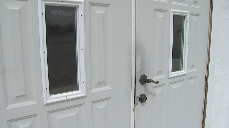 Mosque front doors damaged in break-in