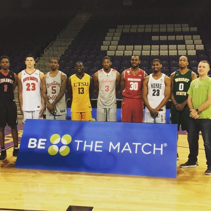 Chase Stigall encouraged NCAA players to join the bone marrow registry
