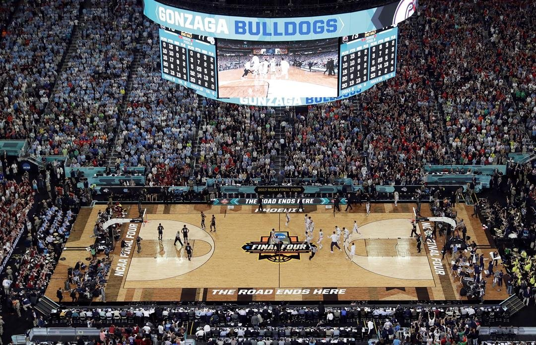The stadium saw its largest ever crowd for a sporting event – 77, 612. (Source: AP Photo/Morry Gash)