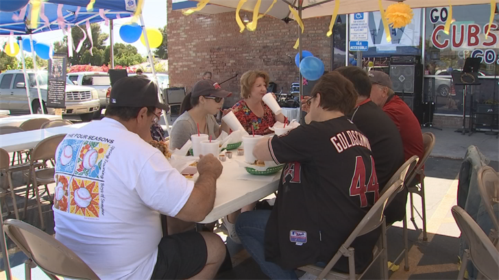 Dozens of people showed up for the good cause. (Source: 3TV/CBS 5)