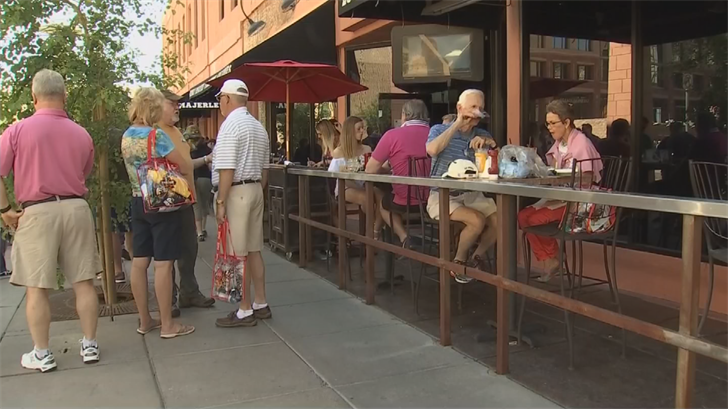 Businesses in downtown Phoenix are packed with people due to all of Sunday's events. (Source: 3TV/CBS 5)