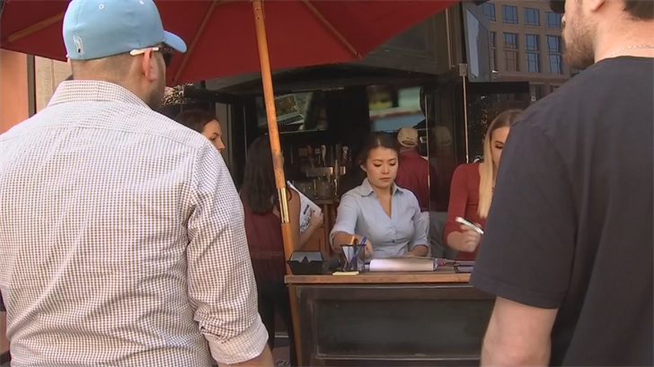 Many businesses in downtown Phoenix have stepped up their staffing and changed their hours to cater to the big crowds and the out-of-town visitors. (Source: 3TV/CBS 5)