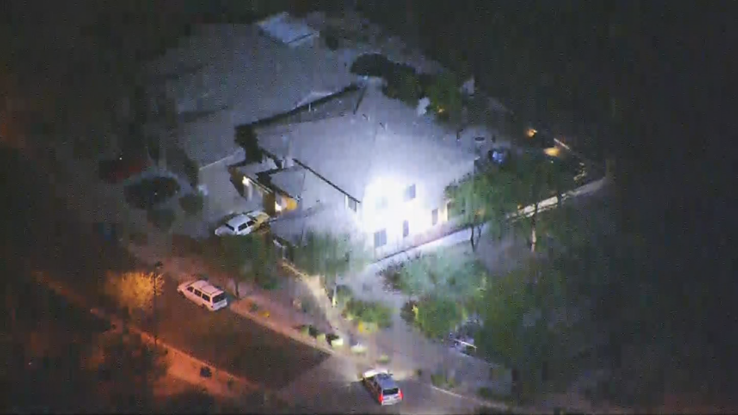 There was a lot of police activity in the neighborhood north of the shooting scene. (Source: 3TV/CBS 5)