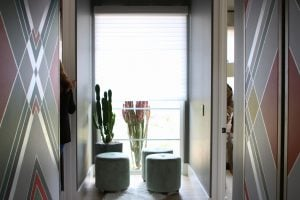 Window shades can be controlled by panels throughout the home or on a homeowner's mobile device using a mobile app. (Source: Jessica Clark/Cronkite News).