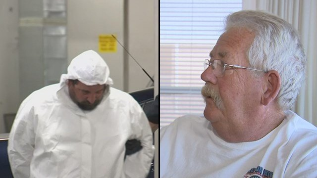 Jerry Krach, left, was arrested on Sunday night. Denny Baumann, right, confronted the suspect. (Source: 3TV/CBS 5)