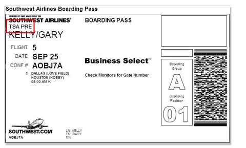 Your boarding pass will tell you if you're cleared for TSA PreCheck.