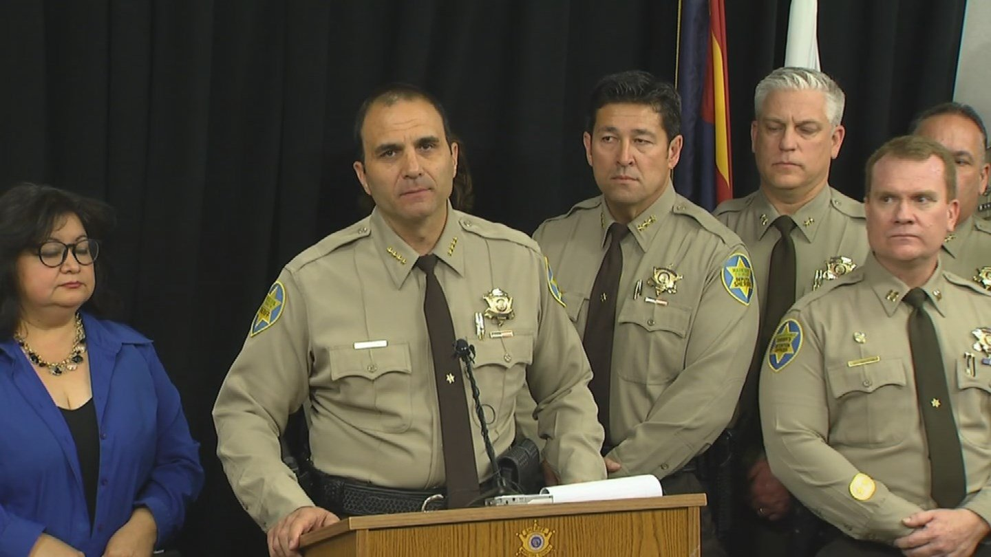 Maricopa County Sheriff Paul Penzone stated in a press conference Tuesday, April 4, that he will shut down Tent City. (Source: 3TV/CBS 5)