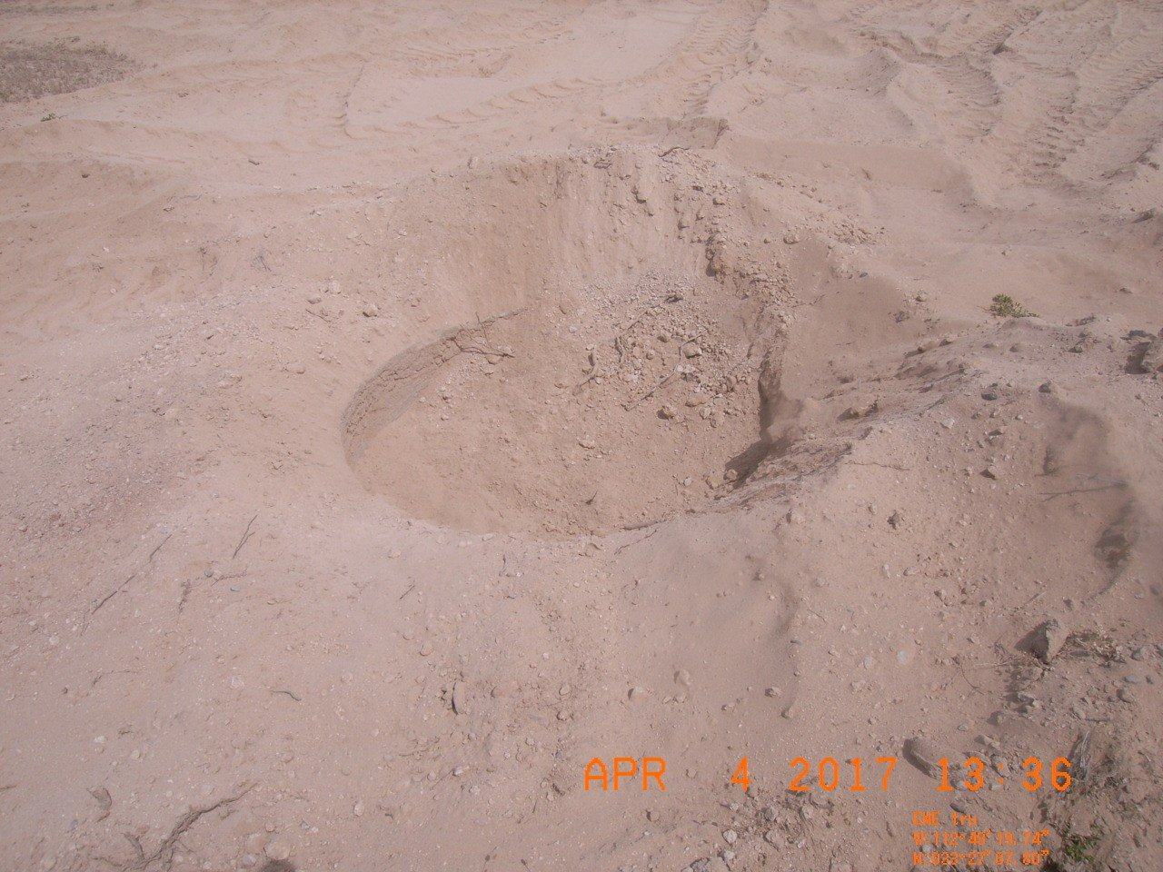 Crews fill in mysterious hole in Tonopah (Source: BLM)