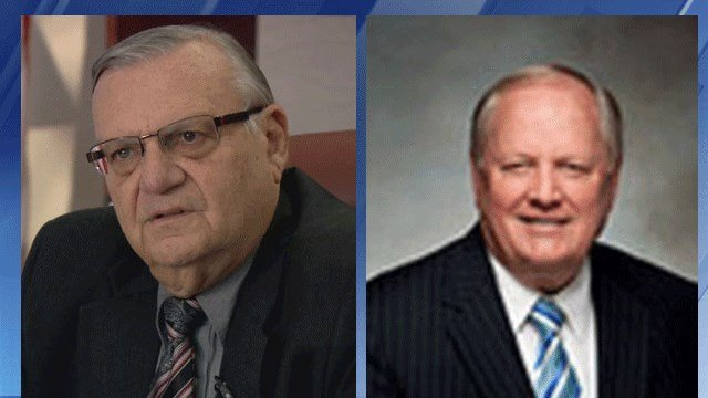 Former Maricopa County Sheriff Joe Arpaio (left) and attorney A. Melvin McDonald (3TV/CBS 5)