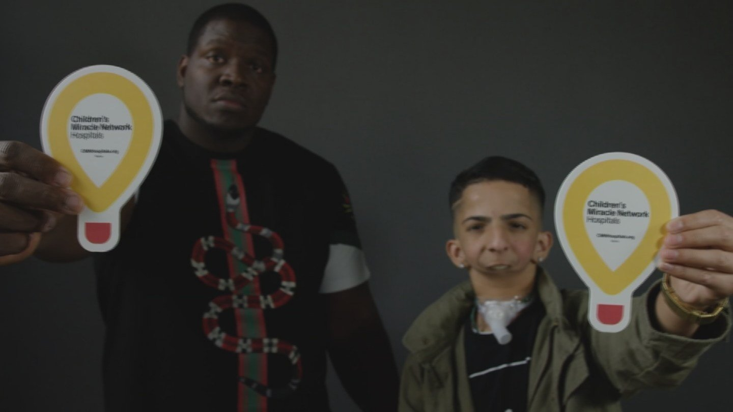 Isaiah Acosta with Phoenix rapper Trap House (Source: 3TV/CBS 5)
