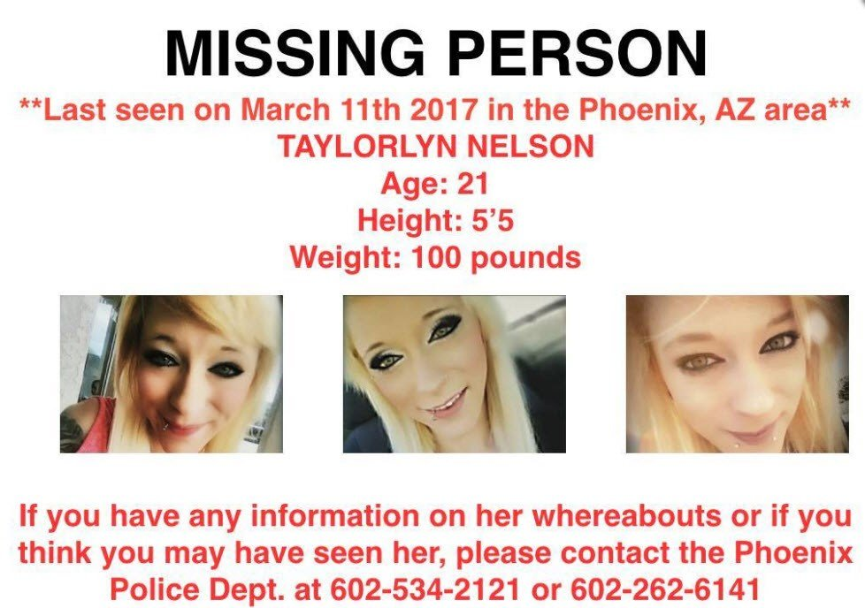 Taylorlynn Nelson disappeared on March 14