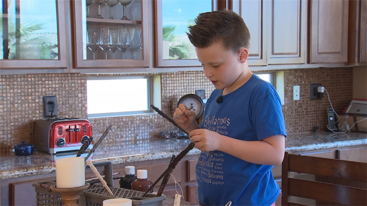 An Ahwatukee boy is making Harry Potter wands to raise money for a fellow fan to go to Universal Studios. (Source: 3TV/CBS 5)