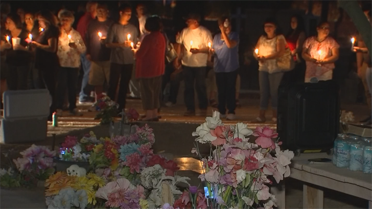 Dozens came together for a vigil for a historic cemetery in Avondale that was hit by vandals. (Source: 3TV/CBS 5)