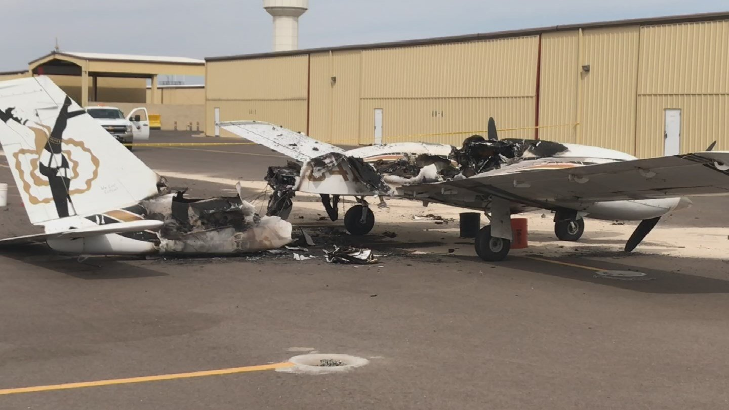 A plane caught fire while trying to start at Deer Valley Airport. (Source: 3TV/CBS 5)