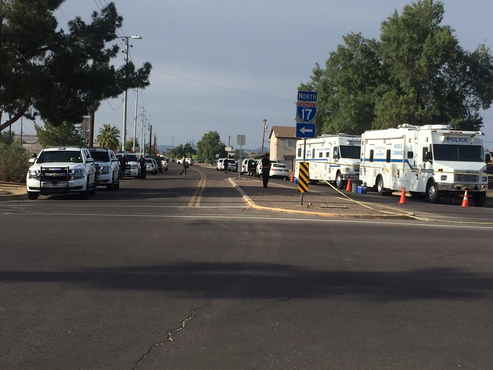 No officers were seriously hurt after a shooting in Phoenix. (Source: 3TV/CBS 5)