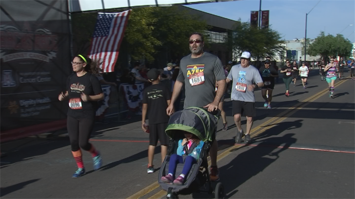 Thousands of runners participated in the D-backs' Race against Cancer. (Source: 3TV/CBS 5)