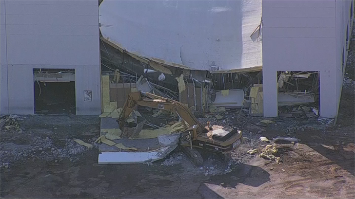 The worker was taken to the hospital in stable condition. (Source: 3TV/CBS 5)