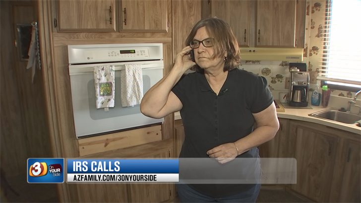 Peggy Driver got a call from a guy who said he was from the IRS but it was a scam. (Source: 3TV/CBS 5)