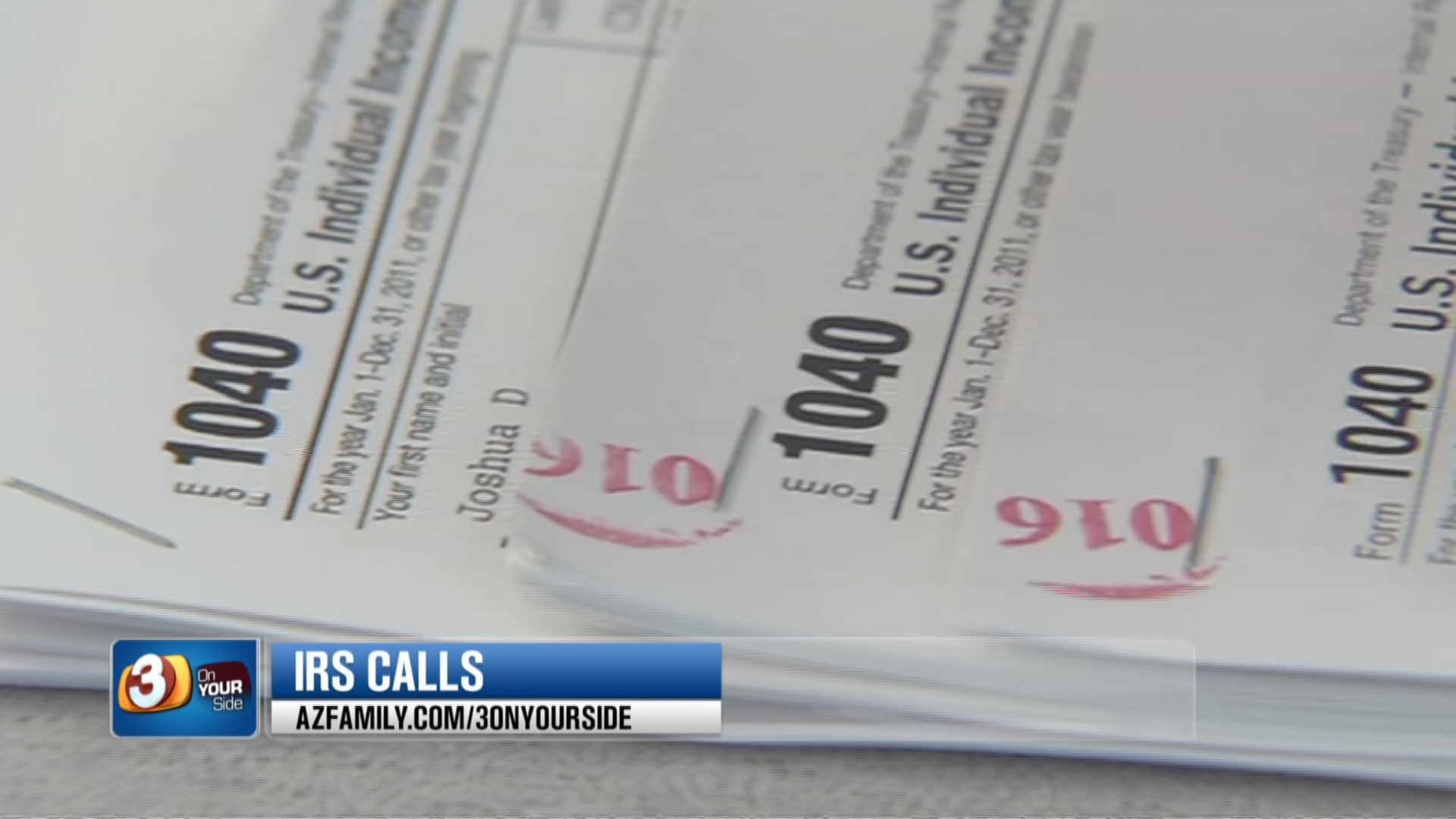 The IRS claims targeted taxpayers will get letters from the agency and the debt collector first before the phone calls are made. (Source: 3TV/CBS 5)