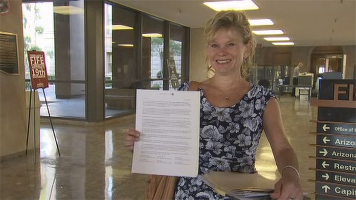 The teachers delivered the note in person during a meeting with the governor. (Source: 3TV/CBS 5)