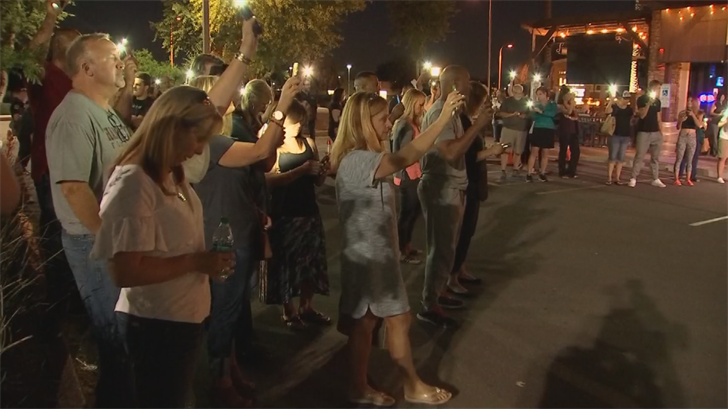 Community members came together in hopes of healing following the hazing scandal at Hamilton High School. (Source: 3TV/CBS 5)