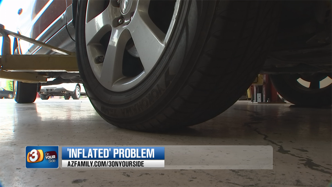 A study has revealed that less than 10 percent of cars had all of their tires properly inflated. (Source: 3TV/CBS 5)