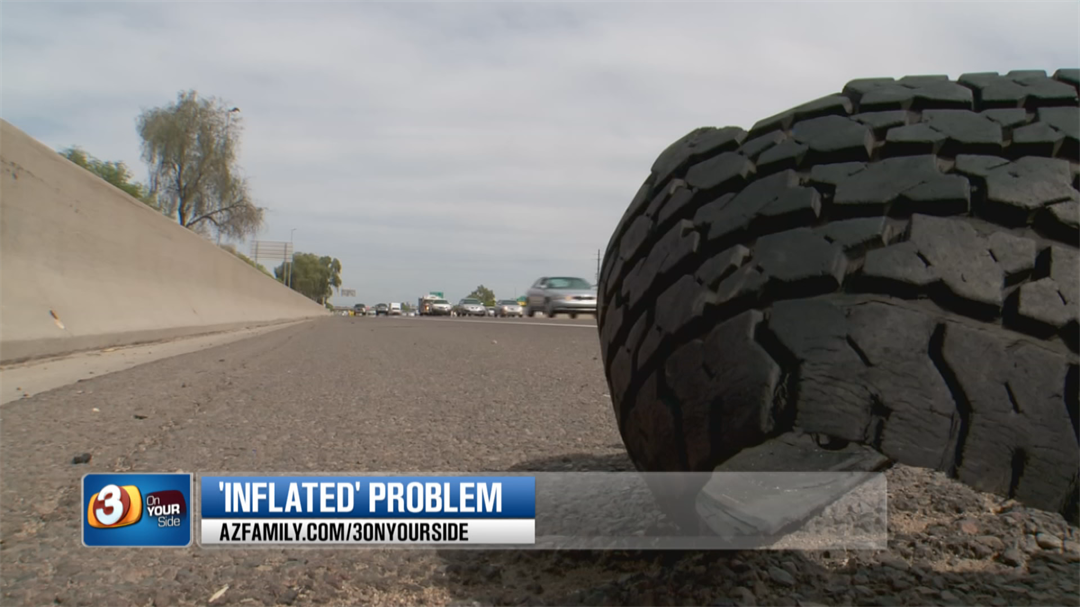 But making sure your tires are properly inflated could be one of your best defenses against shredded tires. (Source: 3TV/CBS 5)