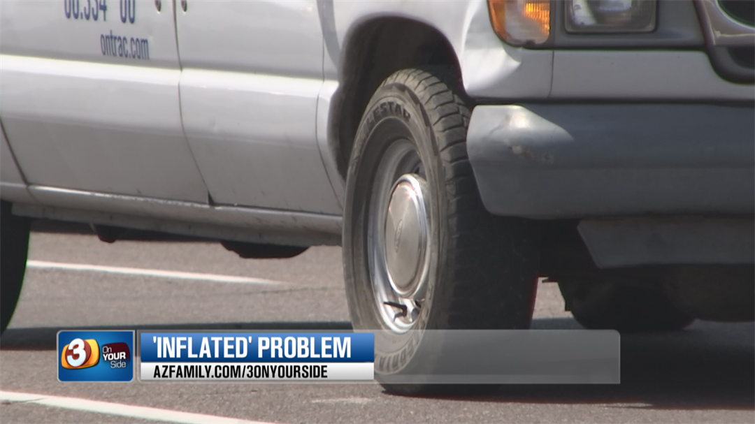But under-inflated tires are not only a huge safety risk but it also wastes fuel and causes premature tire wear. (Source: 3TV/CBS 5)