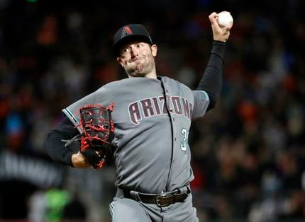 Arizona Diamondbacks starting pitcher Robbie Ray throws to the San Francisco Giants during the sixth inning of a baseball game Tuesday, April 11, 2017, in San Francisco. (AP Photo/Marcio Jose Sanchez)