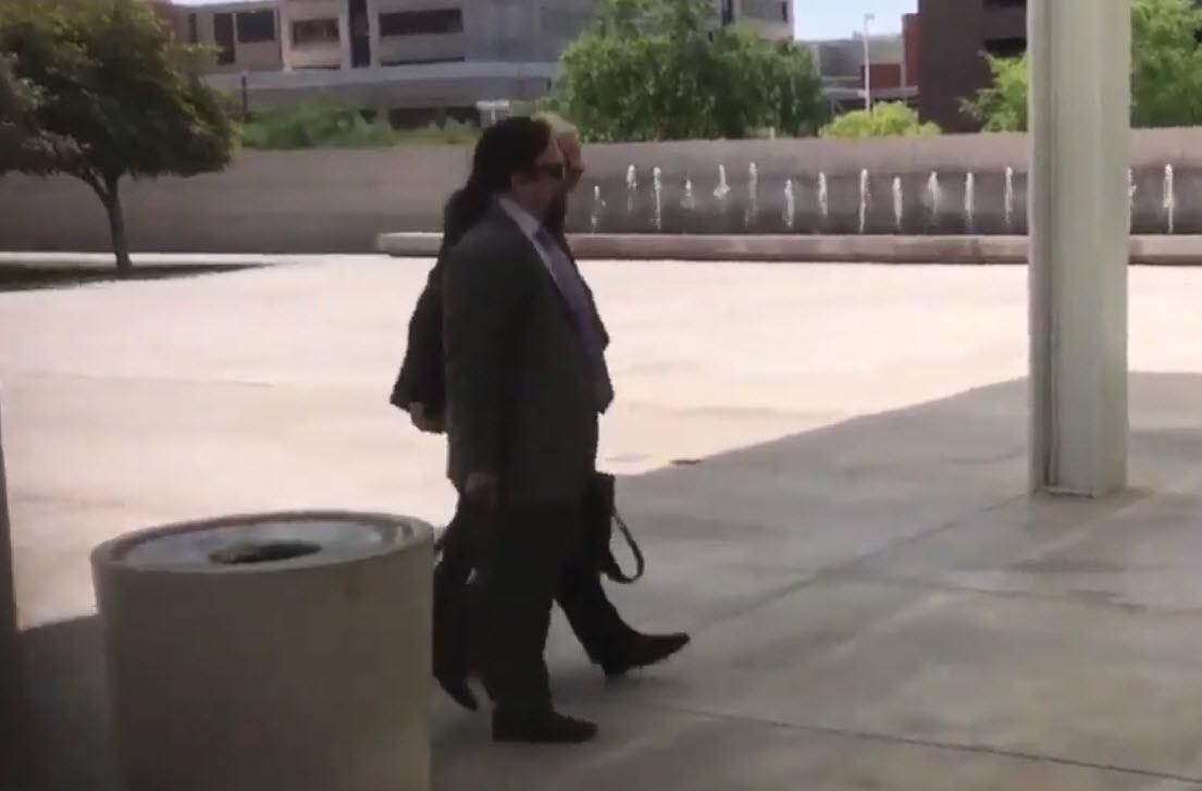 Arpaio's new attorneys walking into court (Source: 3TV/CBS 5)