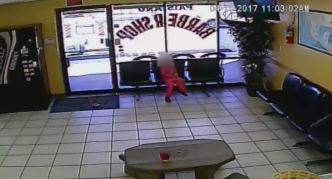 Video Shows Bullets Whiz by Girl's Head in Barber Shop