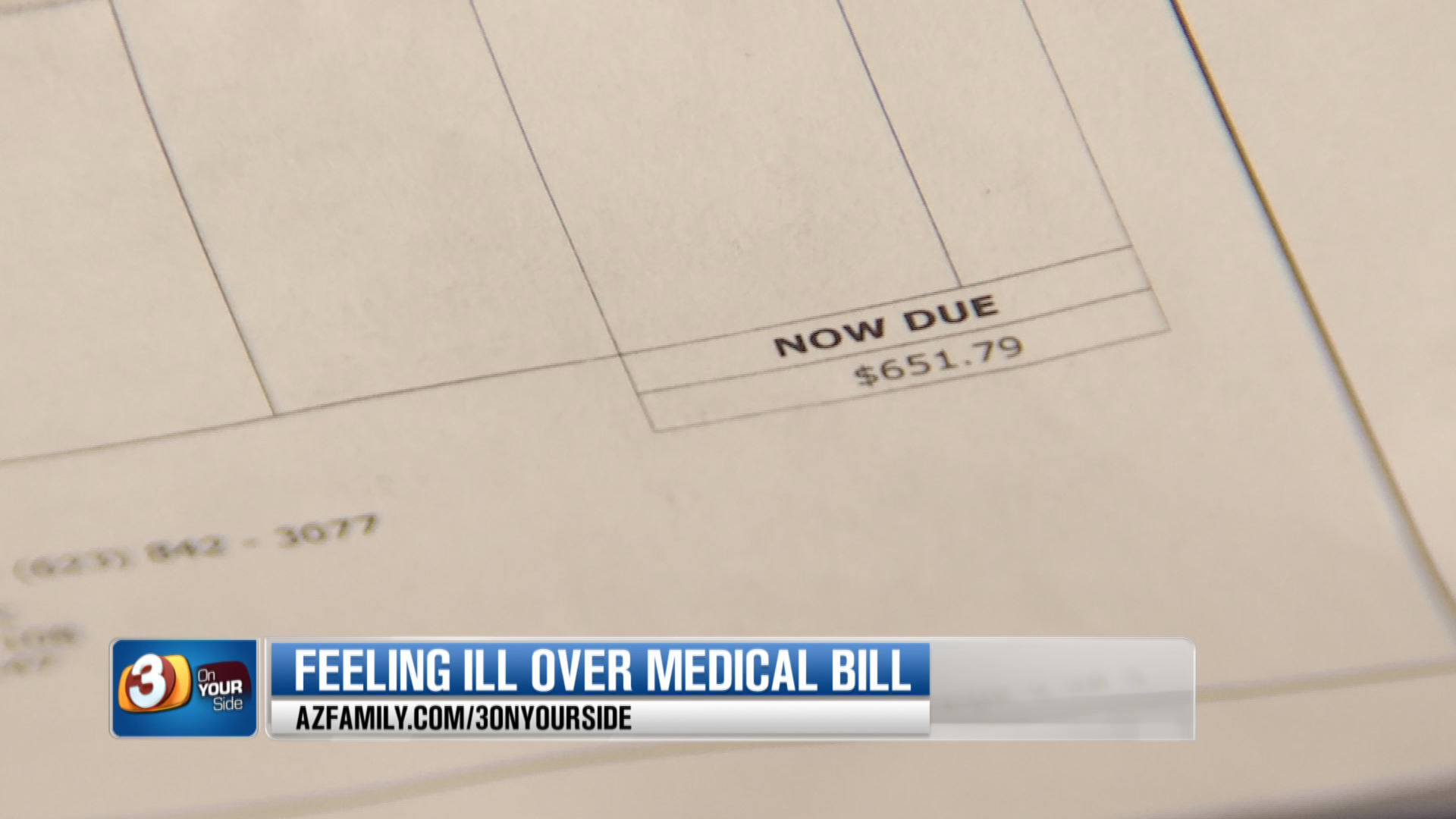 Barbosa was hit with $651 in out-of-network bills. (Source: 3TV/CBS 5)