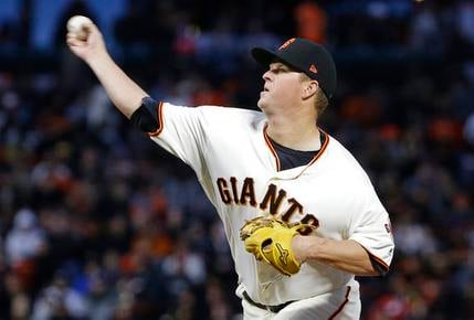 San Francisco Giants pitcher Matt Cain throws against the Arizona Diamondbacks during the second inning of a baseball game in San Francisco, Wednesday, April 12, 2017. (AP Photo/Jeff Chiu)