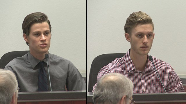 Jacob Mike, right, and Shay McConnell, left, took the stand on Thursday. (Source: 3TV/CBS 5)