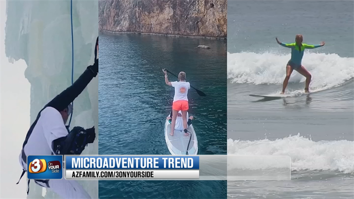 More and more people are taking short vacations that are full of adventure. (Source: 3TV/CBS 5)
