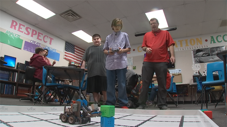 A robotics class could be on the chopping block if President Trump's budget is passed. (Source: 3TV/CBS 5)
