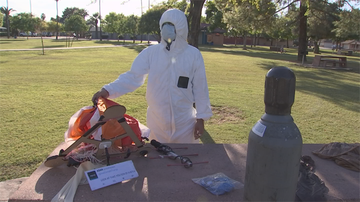 The entire balloon contraption cost about $750. (Source: 3TV/CBS 5)