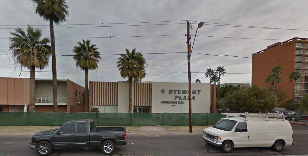 Stewart Plaza in February 2017 (Source: Google Maps)