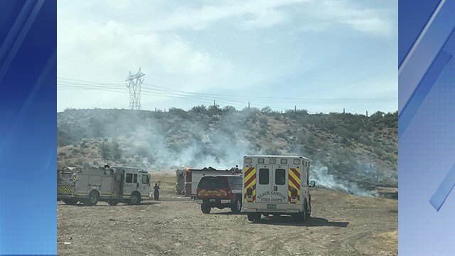 The Easter Fire has burned 10 acres. (Source: Daisy Mountain Fire Department)