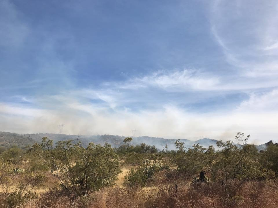 It's unclear what started the fire. (Source: Daisy Mountain Fire Department)